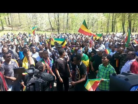 Ethiopians protested in front of South Africa embassy in Washington DC