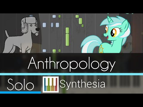 Anthropology (Lyra's Song) - Awkward Marina - |SOLO PIANO TUTORIAL w/LYRICS| -- Synthesia HD