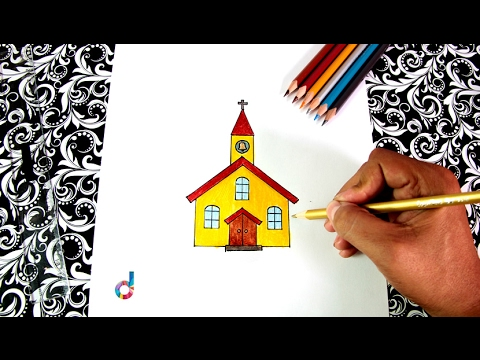 Cómo dibujar una Iglesia | How to Draw a Church - YouTube