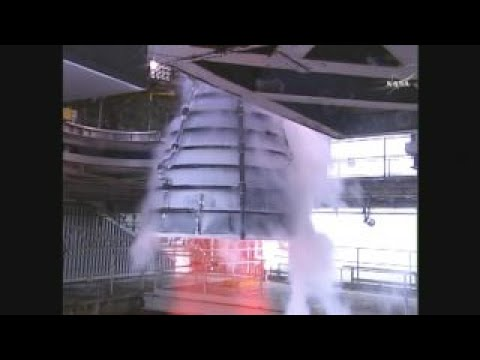 NASA test fires engine for the world's most powerful rocket