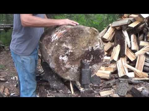 Early September. At The Tent. Splitting Wood. Dropping Trees. New Smoker BBQ. And More
