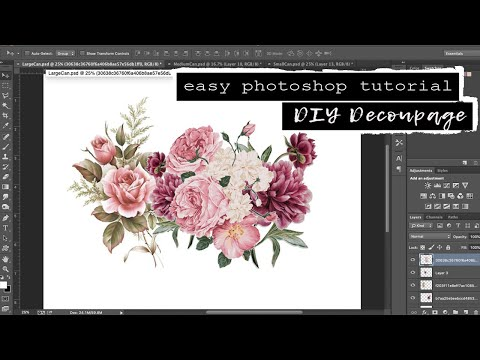 DIY Decoupage Tin Cans Part 1// Where To Find Clipart For Decoupage & Easy Photoshop Tutorial
