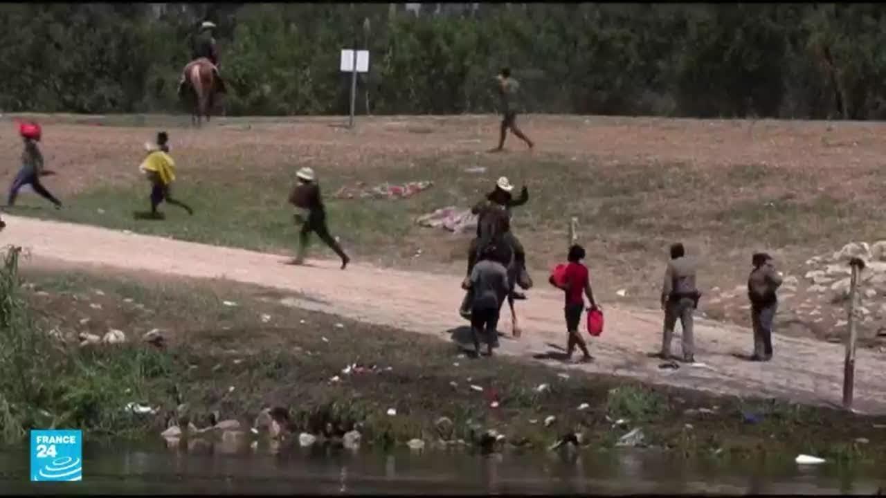 صور صادمة لمطاردة حرس الحدود في ولاية تكساس للمهاجرين الهايتيين