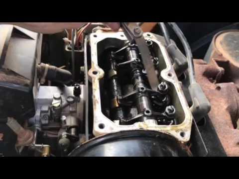 How to adjust the valves on a 1995 ez go golf cart  YouTube
