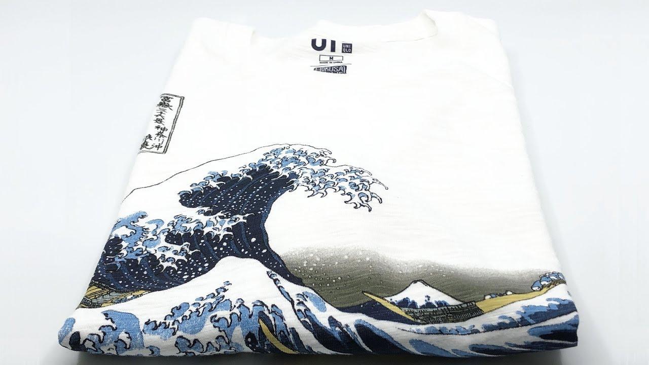 d632355c8 Uniqlo UT'18 × Hokusai Blue 🌊 Short Sleeve Graphic T-Shirt (Off White)【4K】