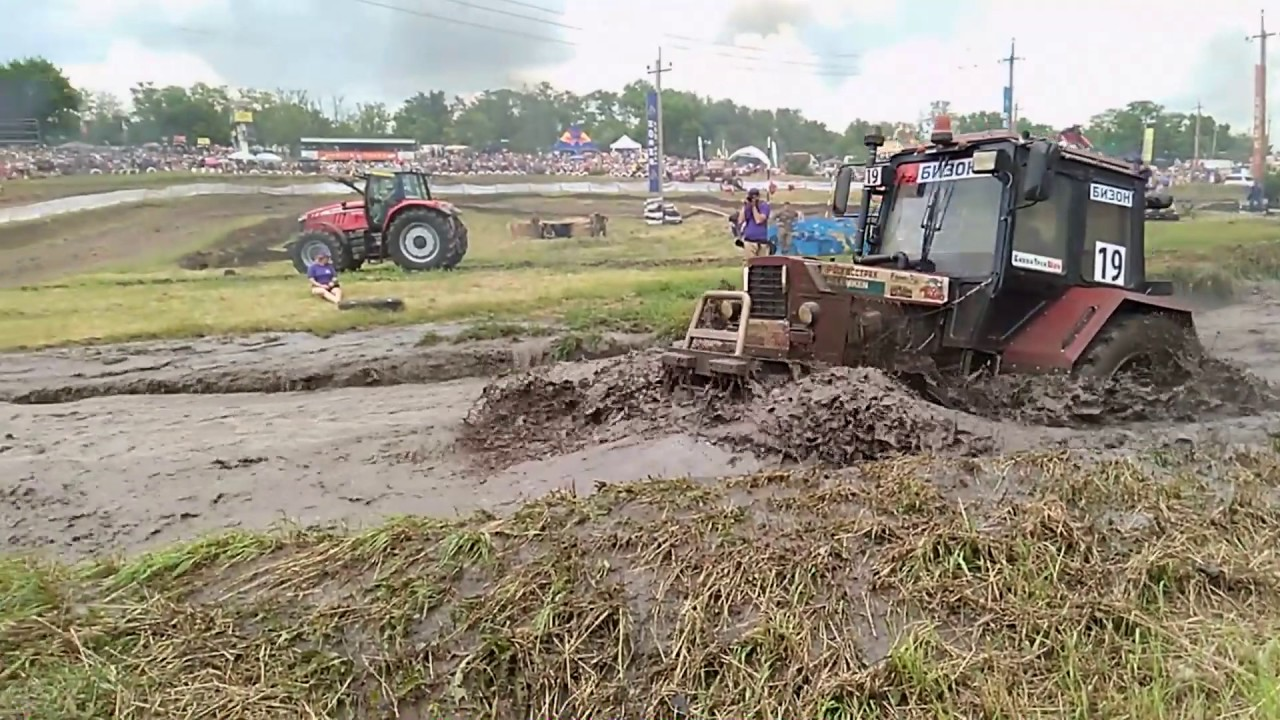 Бизон Трек Шоу 2016 - Николай Васкан и Сергей Гаргун - гонки на тракторах