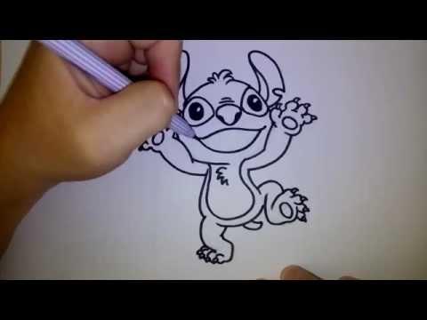 สติทซ์ ดีใจ สอนวาดรูป การ์ตูน by วาดการ์ตูนกันเถอะ