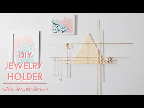Easy DIY Hanging Jewelry Holder | The Drill Down with The Sorry Girls