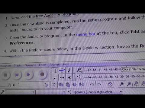How to install & use Audacity software to record sound MP3 pt1of2