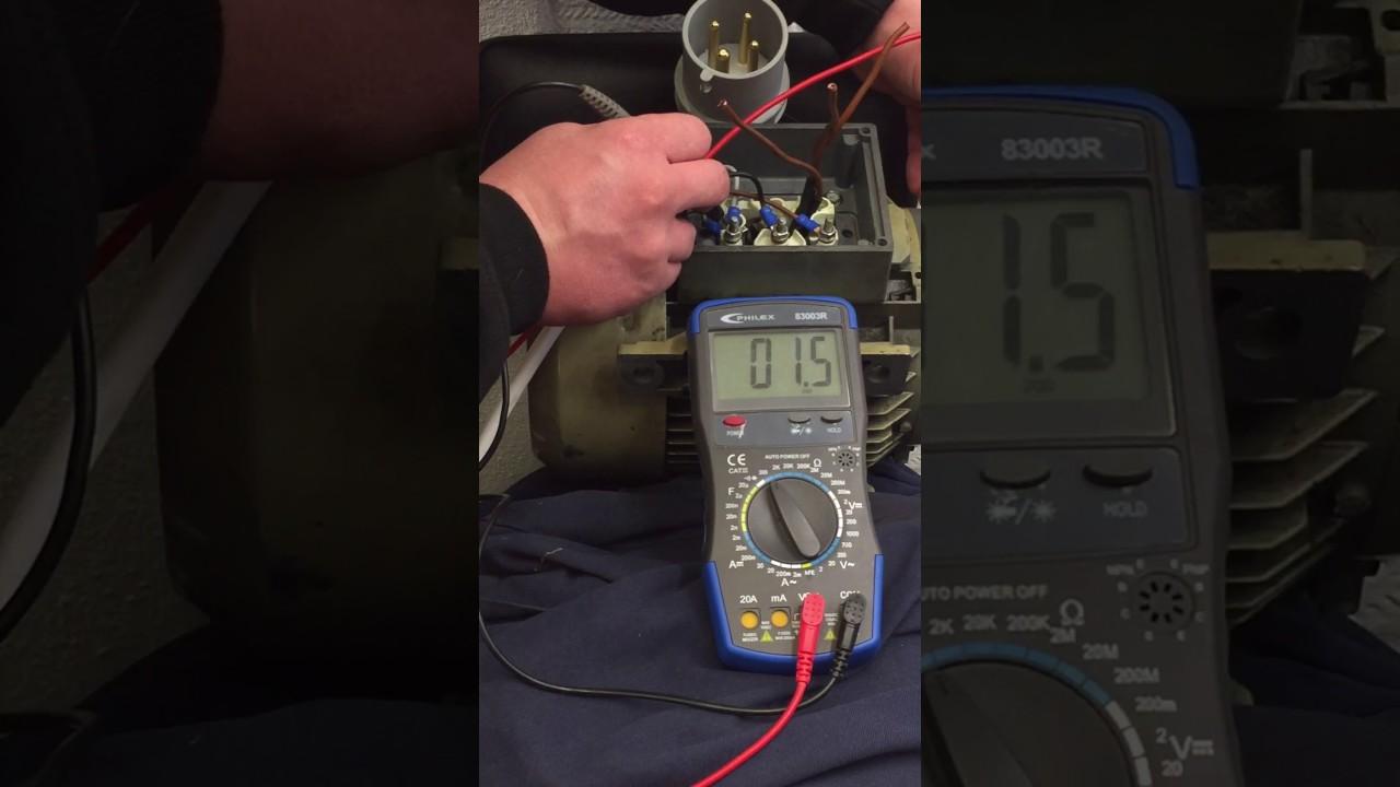 Motor Windings Resistance Test