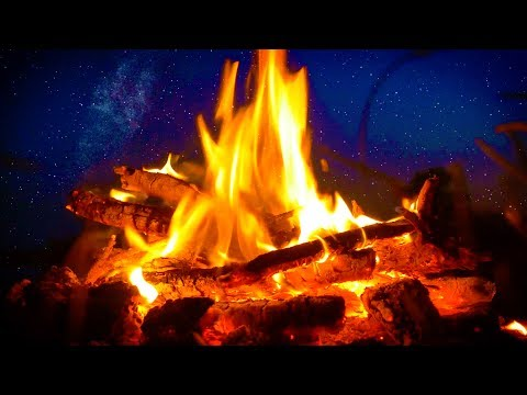 Campfire & River Night Ambience 10 Hours | Nature White Noise for Sleep, Studying or Relaxation
