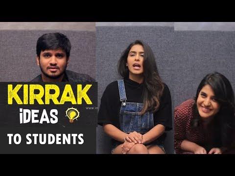 Kirrak Party team Kirak ideas to Students   Nikhil   Samyuktha Hegde   Simran Pareenja