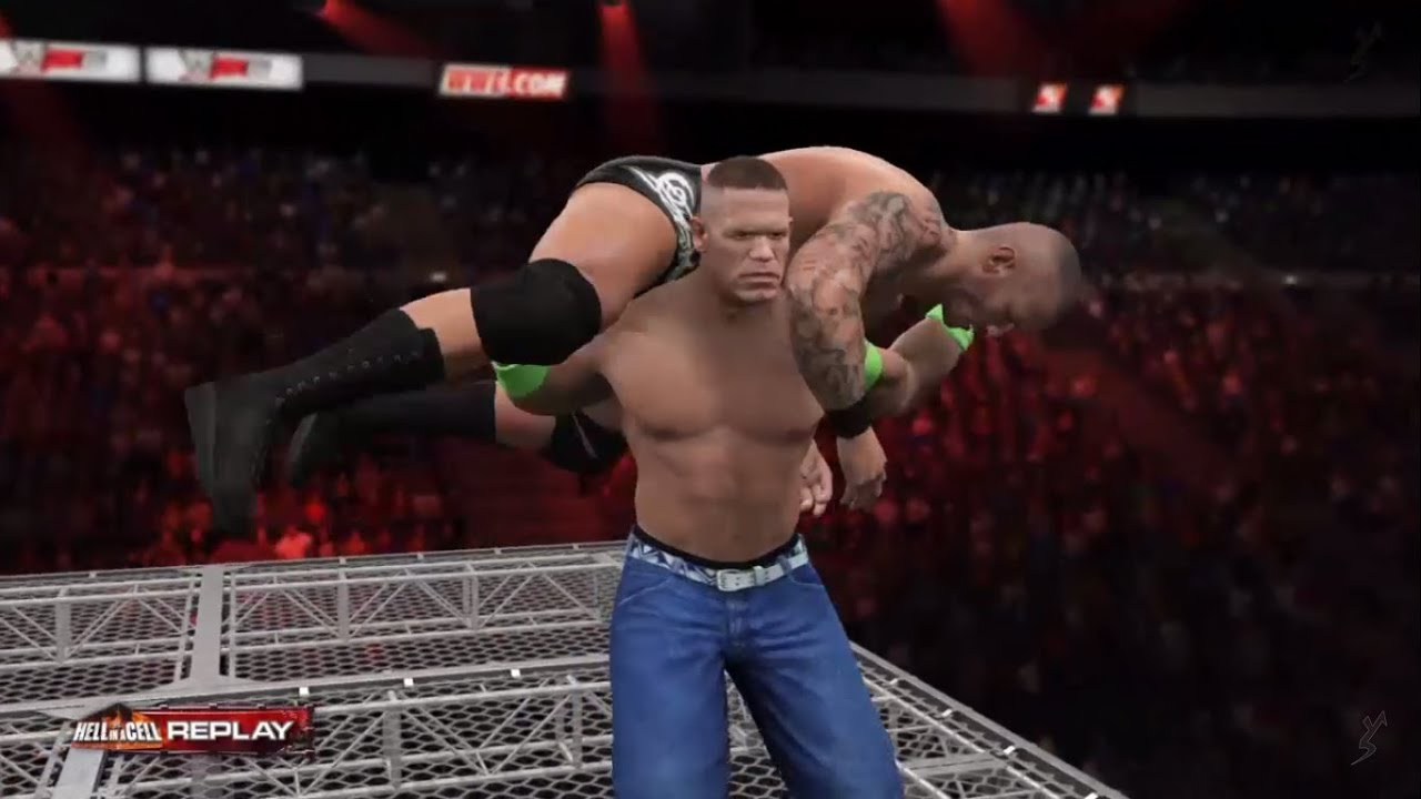 wwe 2k15 - john cena vs randy orton | hell in a cell | ps4