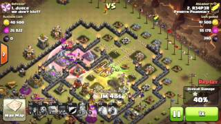 Clash of clans - Gowiwi 3 star against TH10 (infernos)