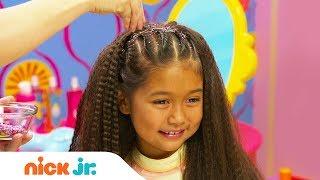 How to Create a Glittery Dance Hairdo 💃🏻 Style Files Hair Tutorial | Sunny Day | Nick Jr. thumbnail