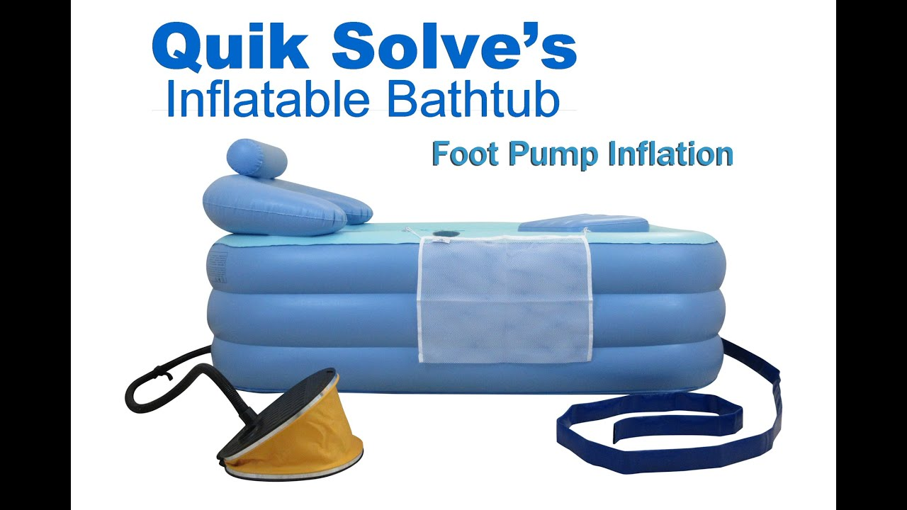 Adult Inflatable Bath tub with Oversized Foot Pump | Setup ...