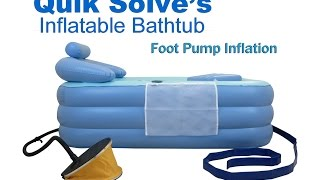 Adult Inflatable Bath tub with Oversized Foot Pump | Setup Instructions