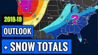 SIMPLIFIED 2018-2019 Winter Forecast [+Snowfall Amounts]