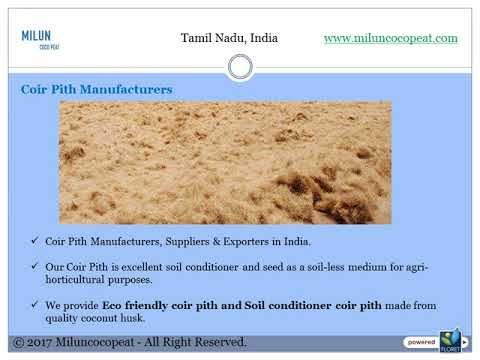 Coir Pith Manufacturers, Suppliers & Exporters