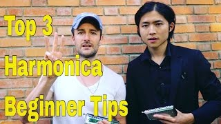 Top 3 Tips - Beginner Harmonica Lesson; by World Champion, Cy Leo
