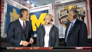 eminems very awkward live tv appearance on espn