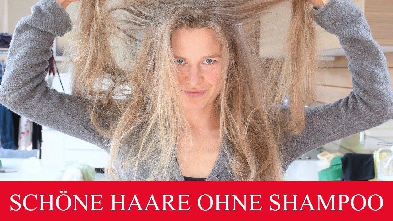 Haare ohne shampoo waschen fettig