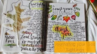 Why We Should Be Journaling Our God Sightings | Christian Inspiration