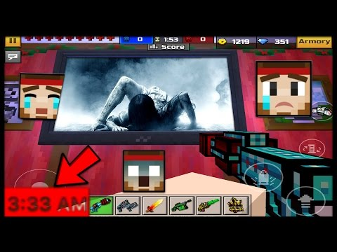 WHY Playing Pixel Gun 3D At 3:33AM IS SCARY! ( TOO SCARY! )