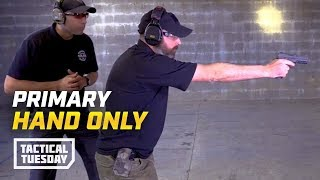 Tactical Tuesday: How To Shoot With Only Your Primary Hand