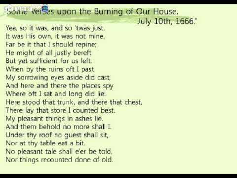 verses upon the burning of our house sparknotes