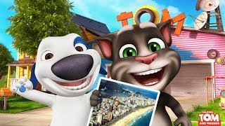 My Talking Hank vs My Talking Tom - Gameplay For Children HD