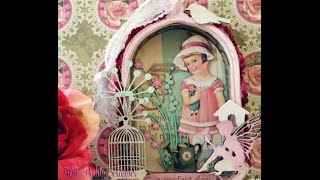 Diy Shabby Chic Birdcage Shadowbox Dt Project Share For Sacrafters