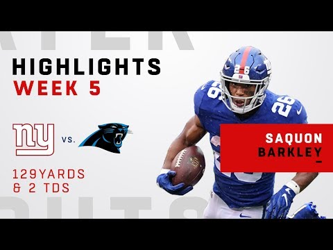 Saquon Barkley Breaks Off a 2-TD Day vs. Panthers