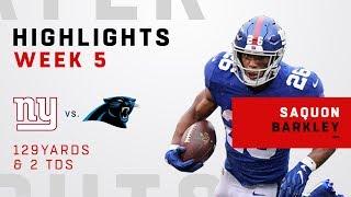 Saquon Barkley Highlights vs. Panthers