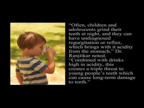High Acidity Drinks Can Permanently Damage Kids' Teeth