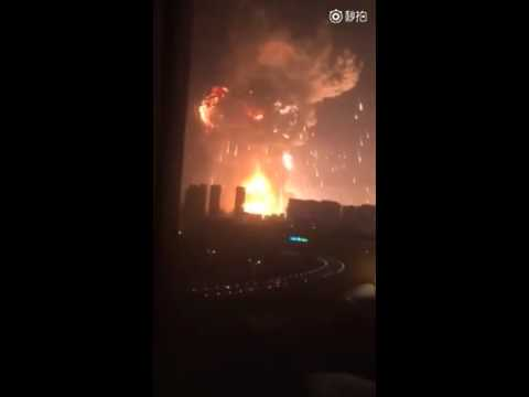China factory explosion 2015/08/12 16:30 GMT