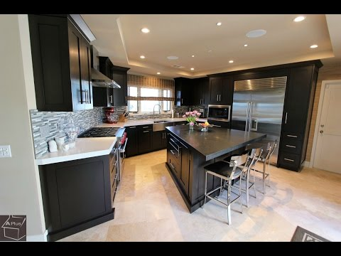 Design Build Dark Espresso Transitional Kitchen In Dana Point Orange County