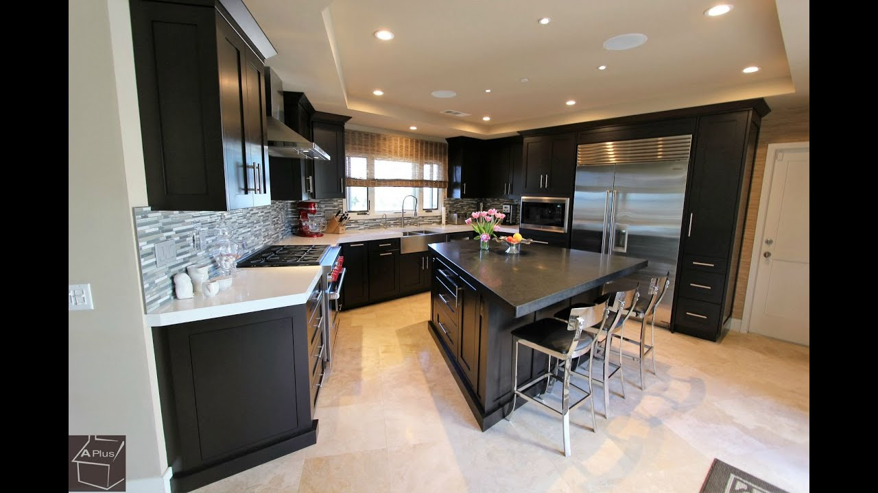 Kitchen Designer Orange County. Design Build Dark Espresso Transitional Kitchen in Dana Point Orange County