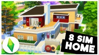 MODERN 8 SIM HOME! And My Awkward Toilet Story...[ The Sims 4 ]