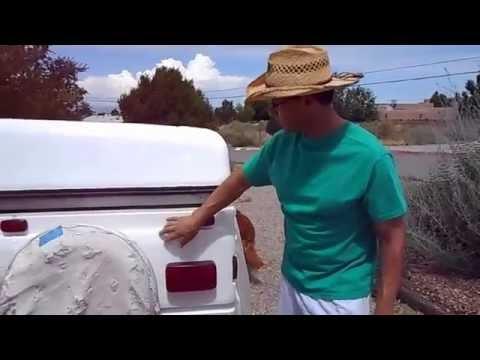 Coleman Popup Tent Trailer roof repair with SPEEDOKOTE white bedliner