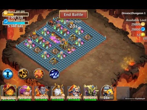 Castle Clash Insane Dungeon 1-3 100% (F2P)