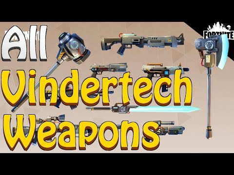 FORTNITE - ALL 9 New Vindertech Weapons (Battle Royale Smoke Grenade And Leaderboards)
