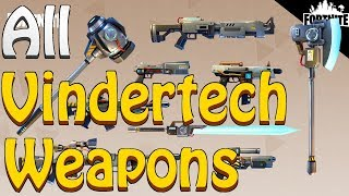 FORTNITE - ALL 9 New Vindertech Weapons (Battle Royale Smoke Grenade And Leaderboards)