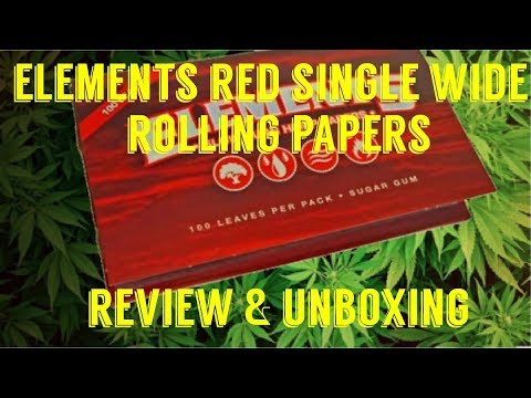 FULL MELT FUSION'S – ELEMENTS RED SINGLE WIDE HEMP ROLLING PAPER REVIEW & UNBOXING #RawLife #RawLife