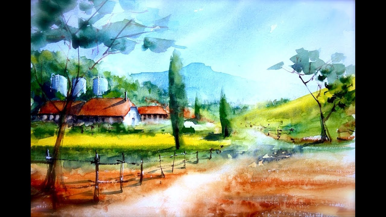 Step By Step Countryside Landscape For Beginners Only