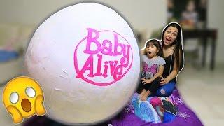 MEGA BABY ALIVE OVO SURPRESA(Meus amores, se inscrevam no meu canal, cliquem em gostei e deixem um recadinho, responderei os comentários mais legais. Um ovo mega gigante da Baby ..., 2016-05-21T14:00:04.000Z)