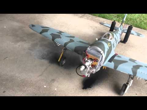 Topflite giant scale P-47 engine run. DA-50