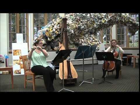 UPS Music in the Library - Flute, Cello, & Harp