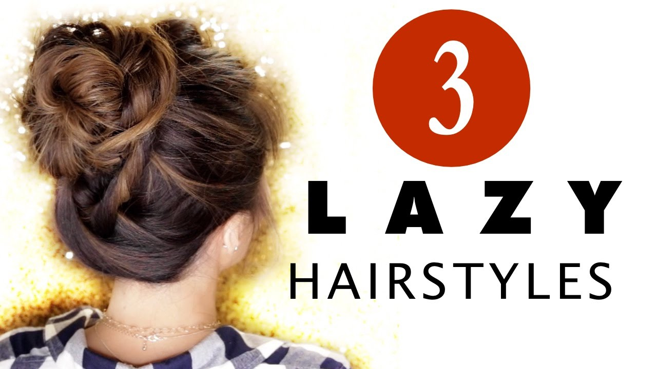 3 Lazy Hairstyles Easy Everyday Hair Styles With Curls Youtube