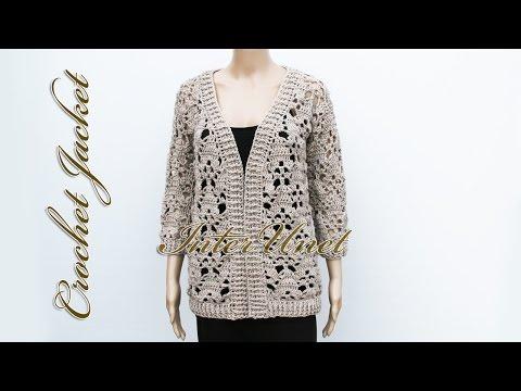 Jacket cardigan crochet pattern